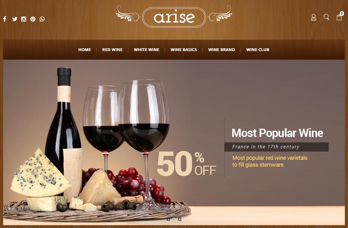 Wine Store Responsive Opencart Theme