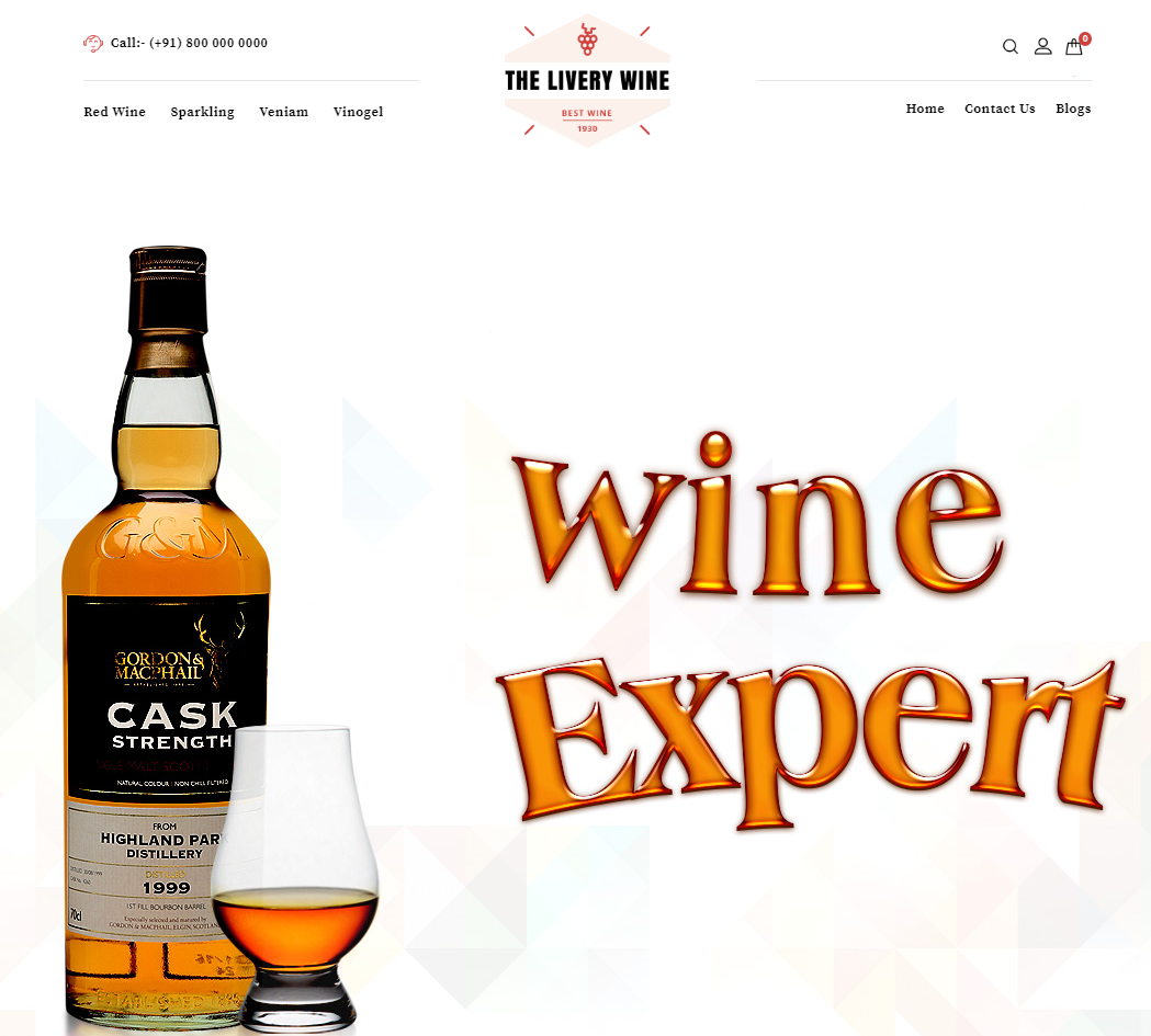 Wine Shop OpenCart Theme
