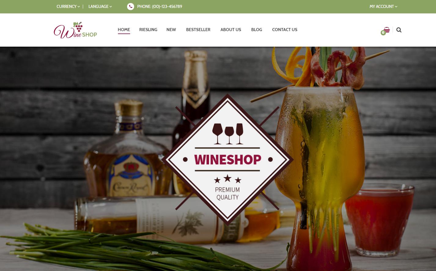 Responsive OpenCart Wine Theme