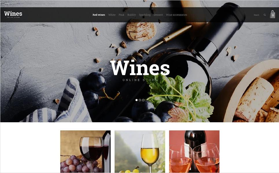 Wine Store OpenCart Theme