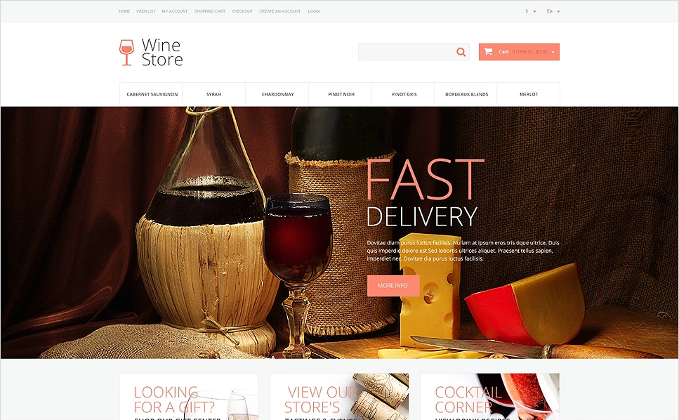 Responsive Wine OpenCart Template