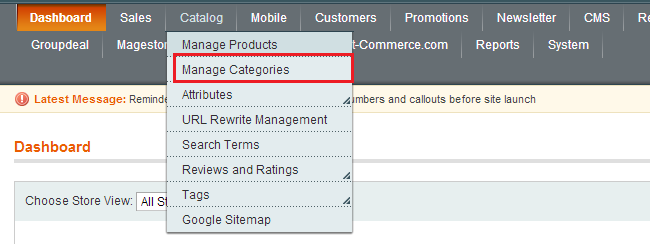 add and manage categories in magento