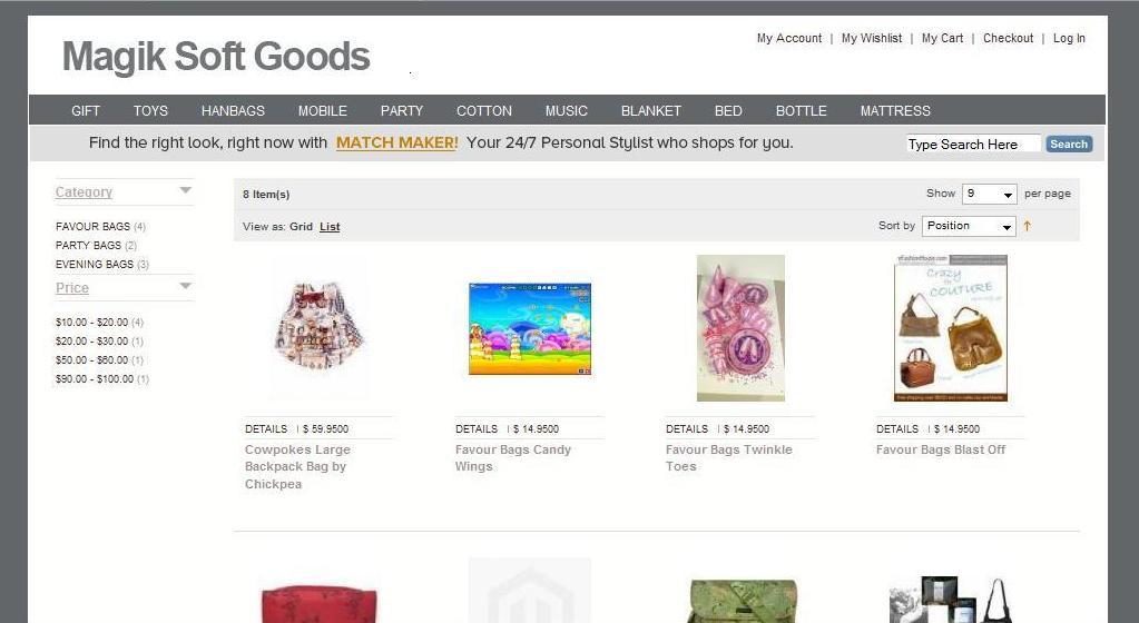 Magik soft Goods Category View
