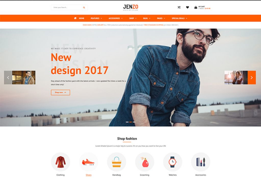 Best Responsive Fashion Magento Theme