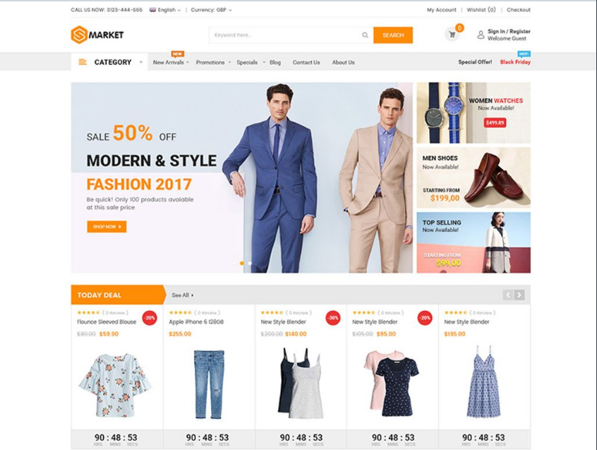Magento Theme for Fashion Boutiques