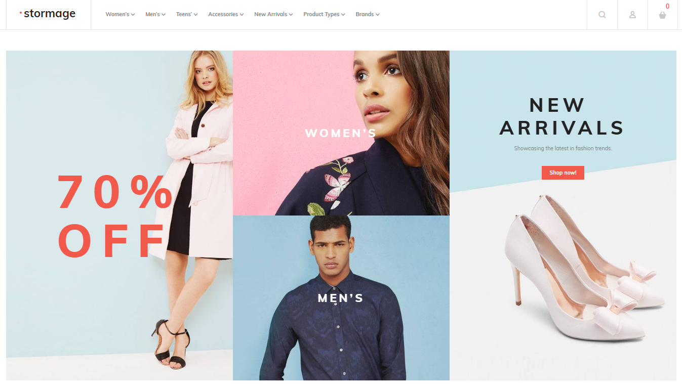 Magento Theme for Fashion Store
