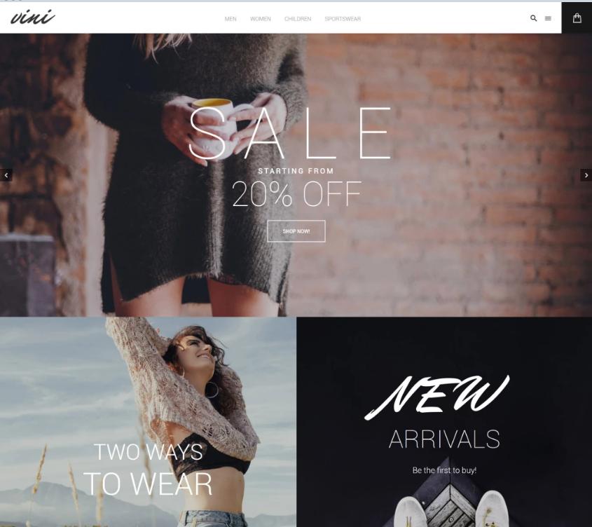 Modern Fashion Store Magento Theme