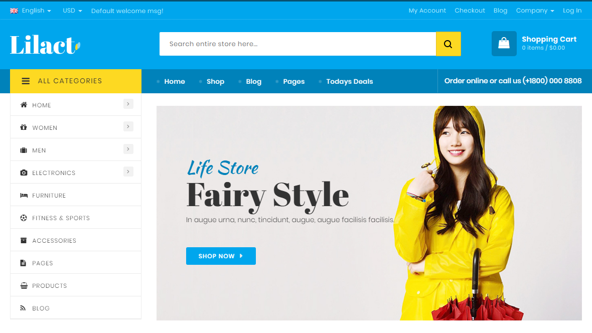 Magento Fashion Store Theme