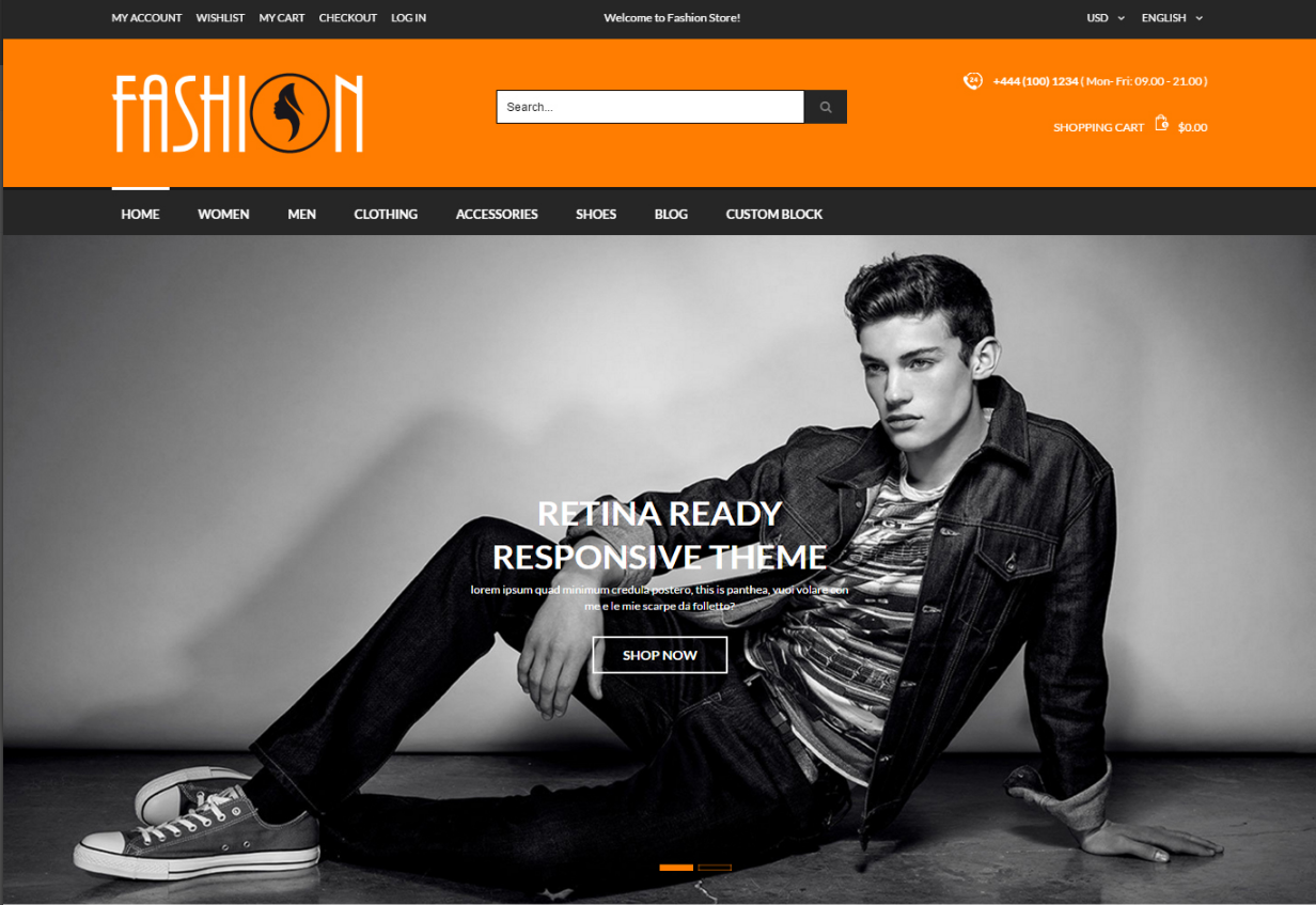 Clothes Fashion Magento Theme