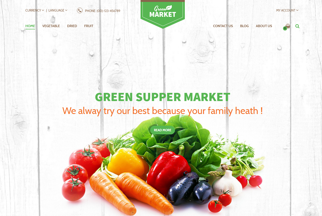 Super Food Store Template OpenCart Theme