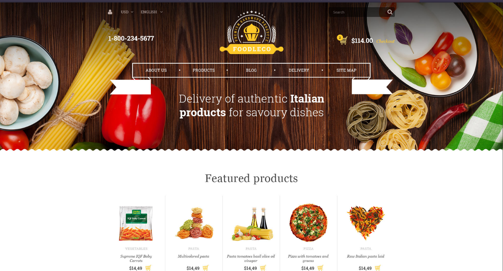 Food Store & Restaurant OpenCart Theme