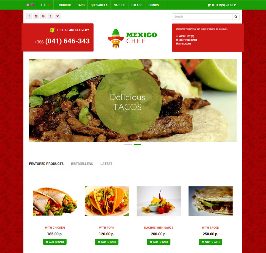 Food Shop Responsive OpenCart Theme