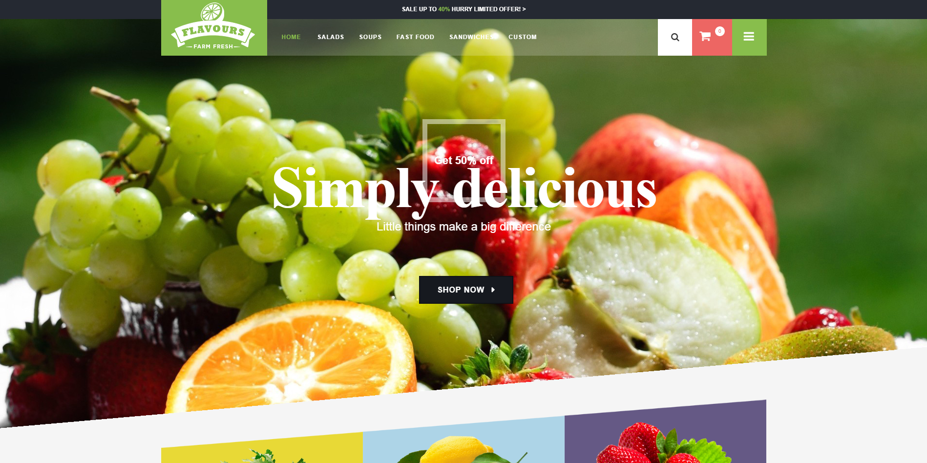 Foodstore OpenCart Theme