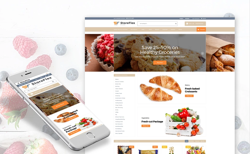 Fresh Food Store Responsive OpenCart Theme
