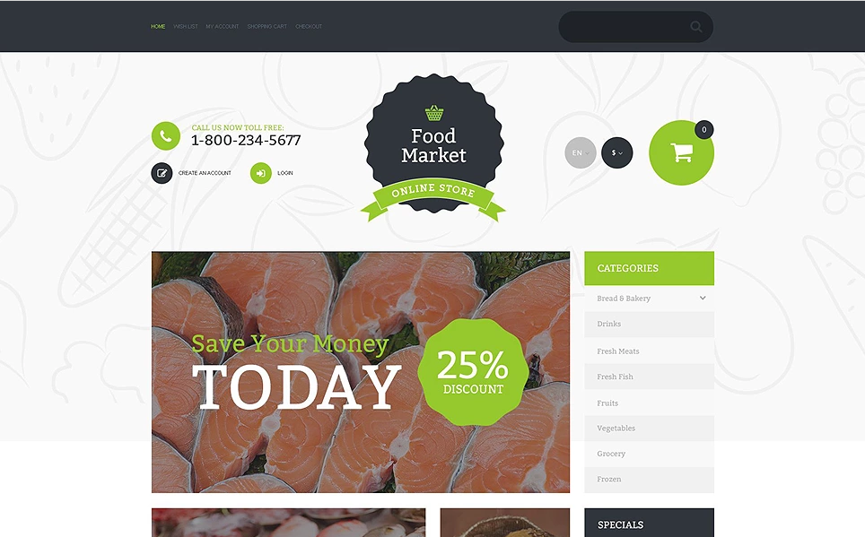 Premium Food and Drink Opencart Theme