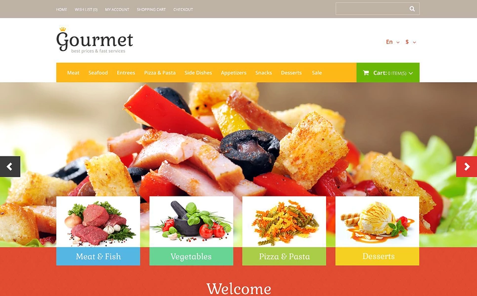 Professional Opencart Food Store Theme