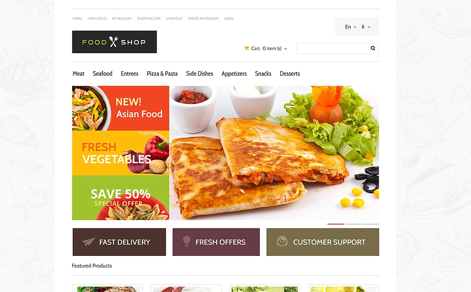 Multipurpose Responsive Opencart Theme for Food Store