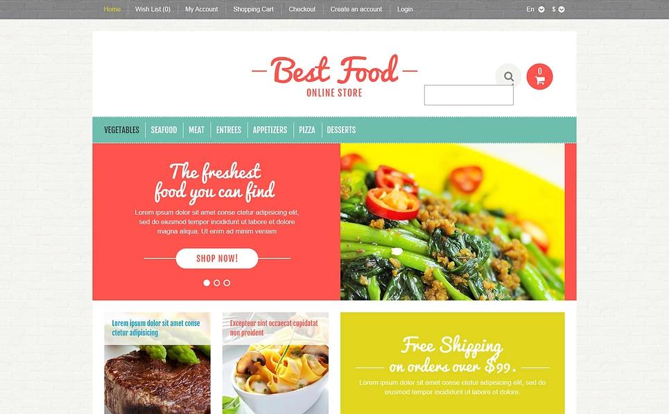 Organic Food Store Responsive OpenCart Theme