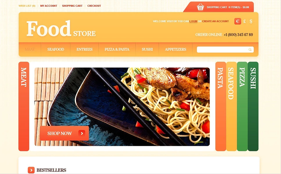 Responsive Opencart Food & Restaurant OpenCart Theme