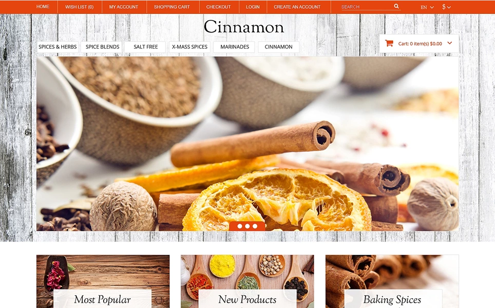 Yummy Food store OpenCart Theme