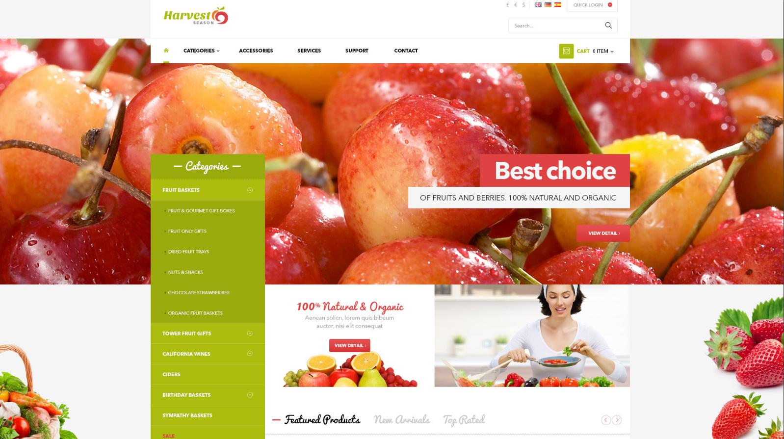 Fruit Ecommerce Responsive Magento Theme