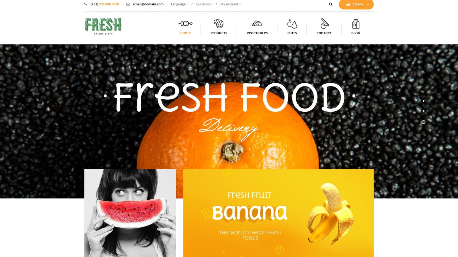 Elegant Fruit store Magento Theme