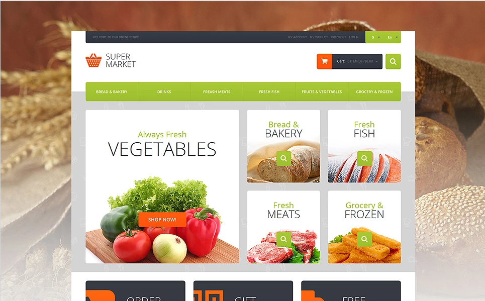 Fruit Store Magento Template
