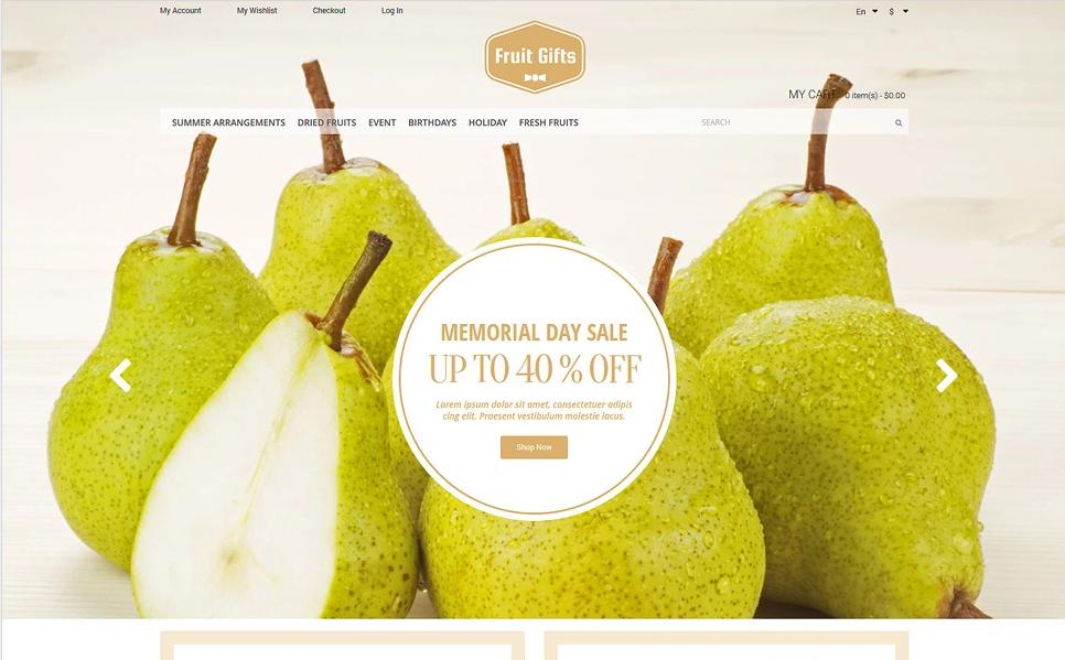 Magento Fruit Store Theme