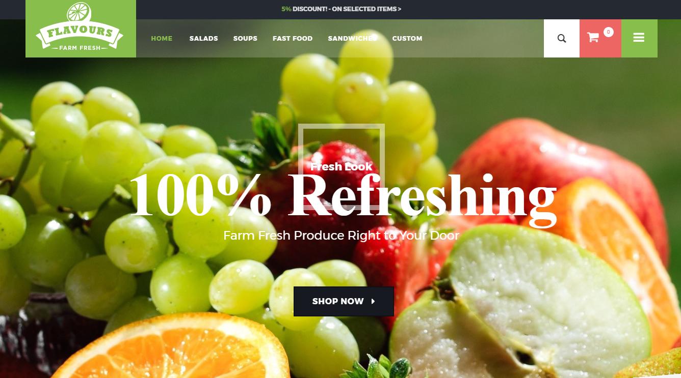 Fruit Store Magento Responsive Theme