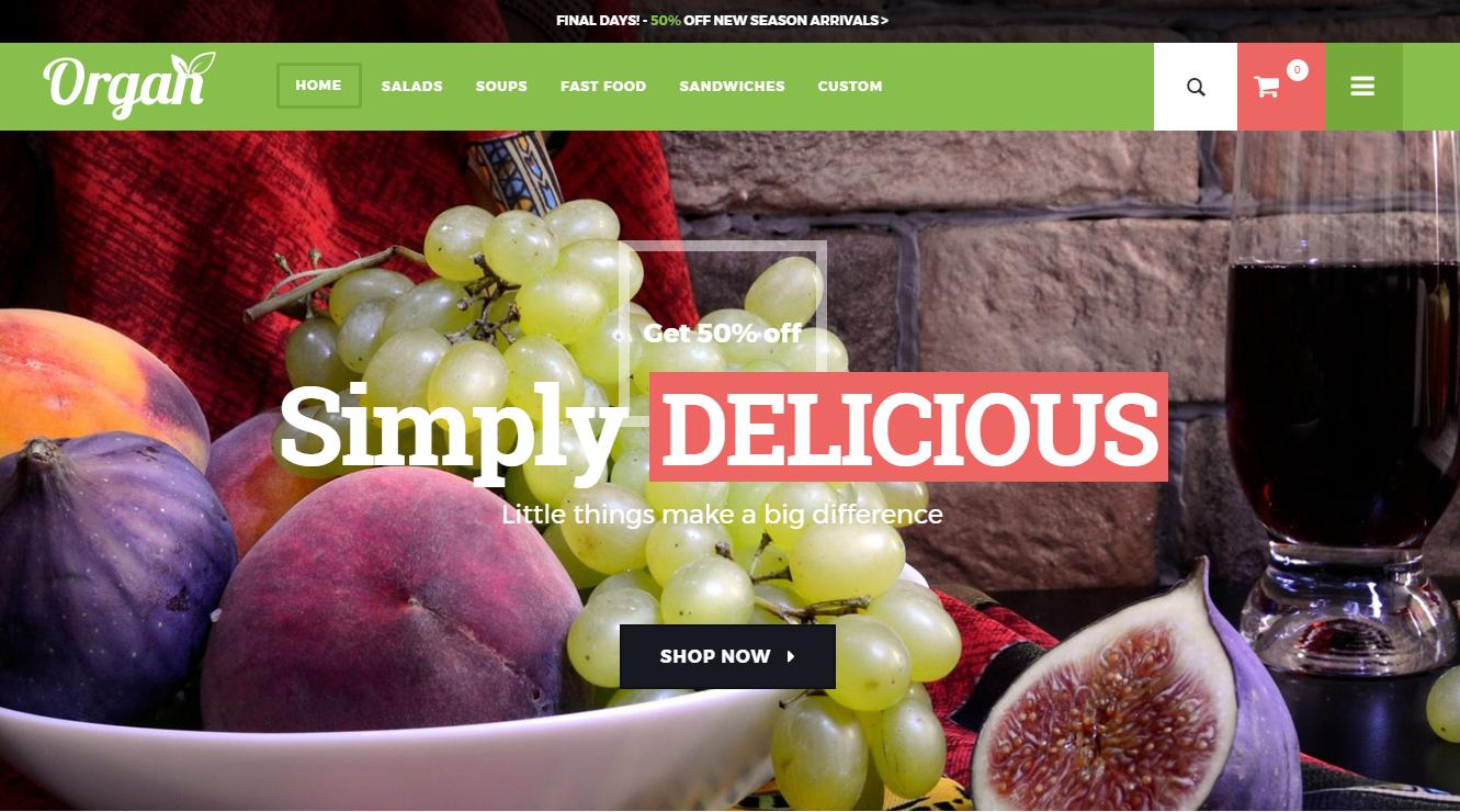 Fruit Store Responsive Magento Theme