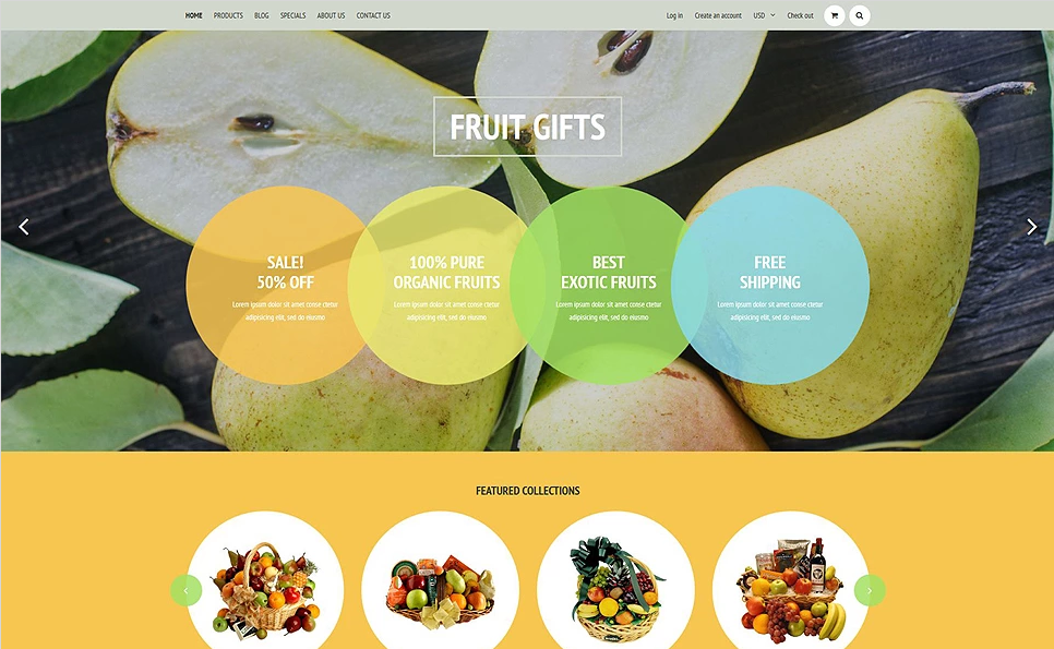 Shopify Food Store Templates