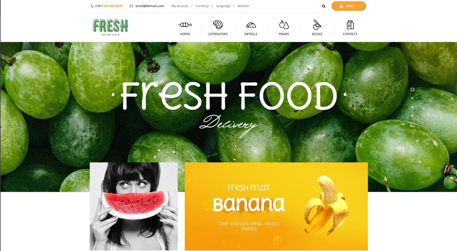 Fruit Store Responsive Shopify Theme