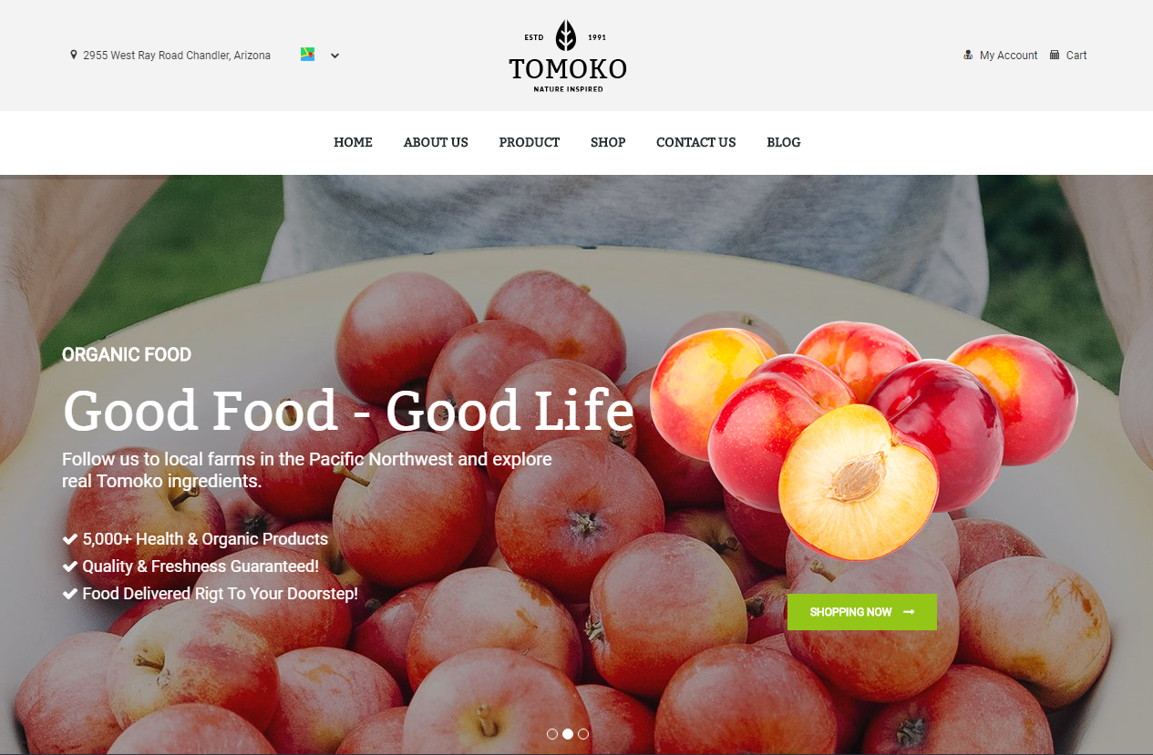 Fruit Store Shopify Template
