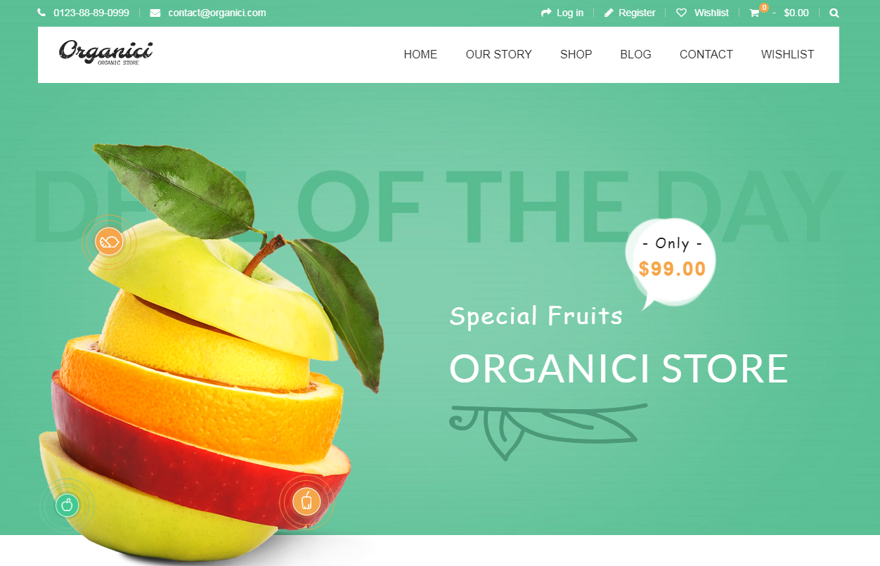 Shopify Fruit Store Theme