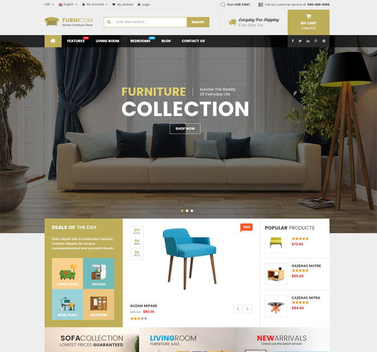 Magento Furniture Template