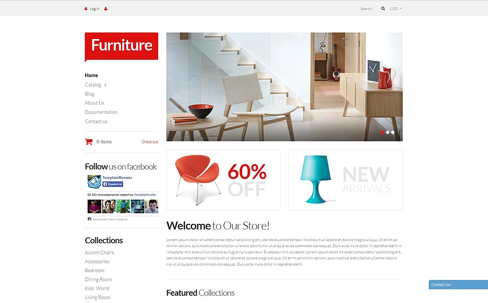 Responsive Furniture Store Shopify Theme