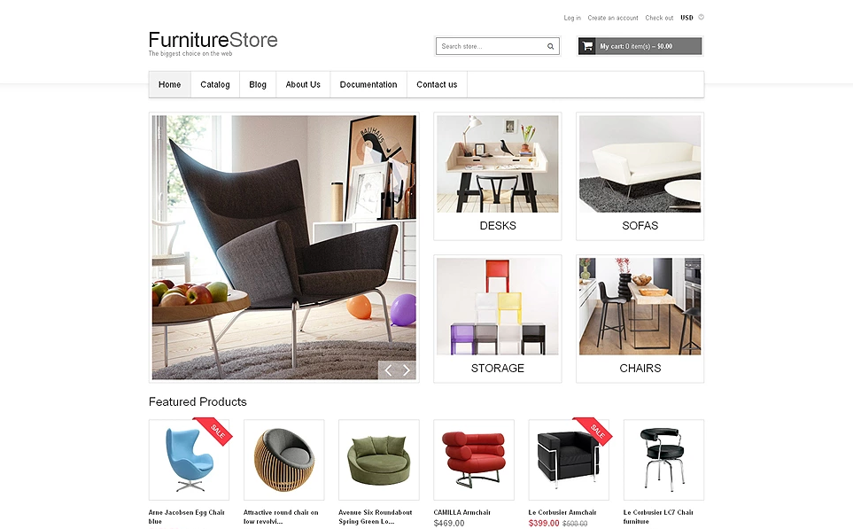 Furniture & Interior Design Responsive Shopify Theme