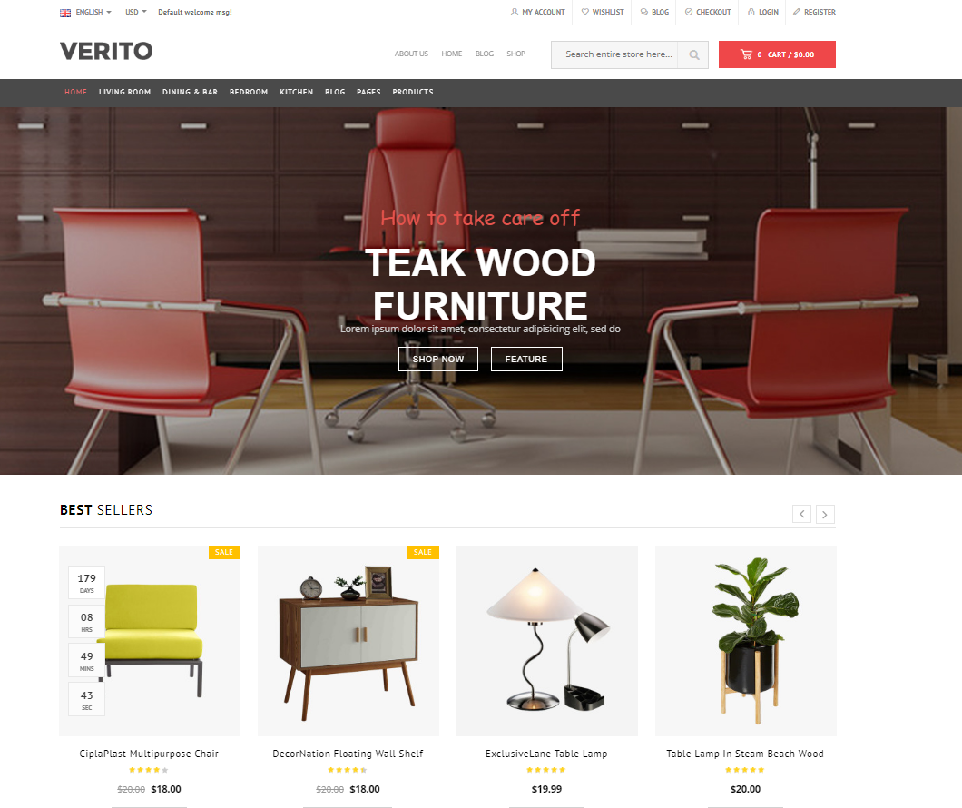 20 best furniture wordpress themes 2017 premium for Furniture and more store