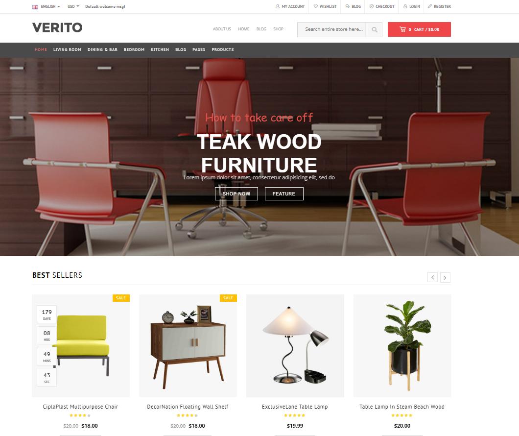 Furniture Store WooCommerce WordPress Theme