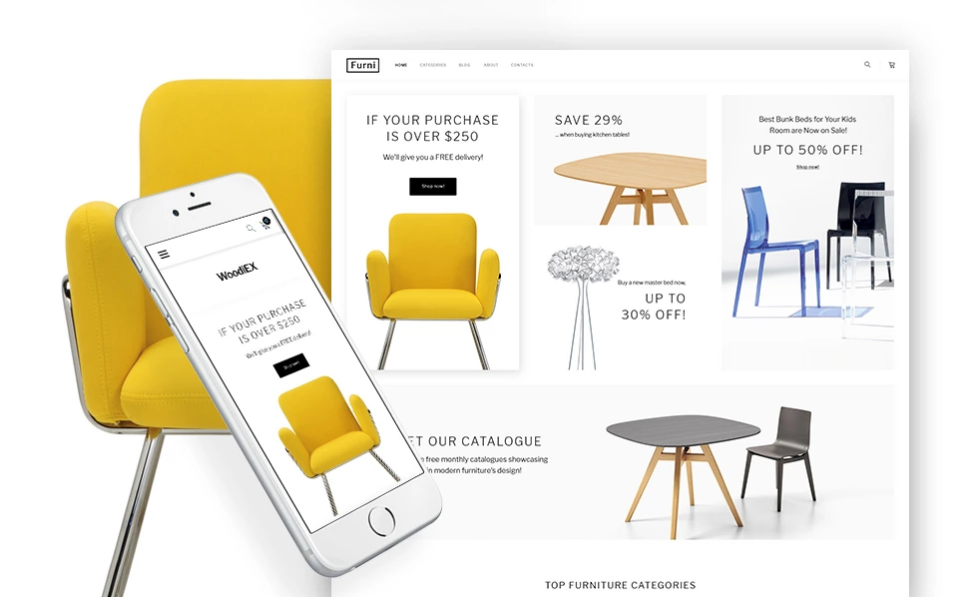 Responsive WordPress Theme for Interior Design Co