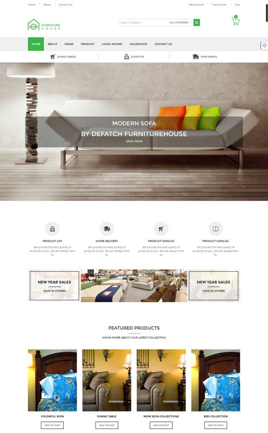 Interior Furniture Responsive WooCommerce Template