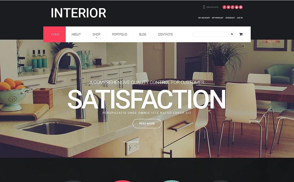 WordPress Template for Furniture Store