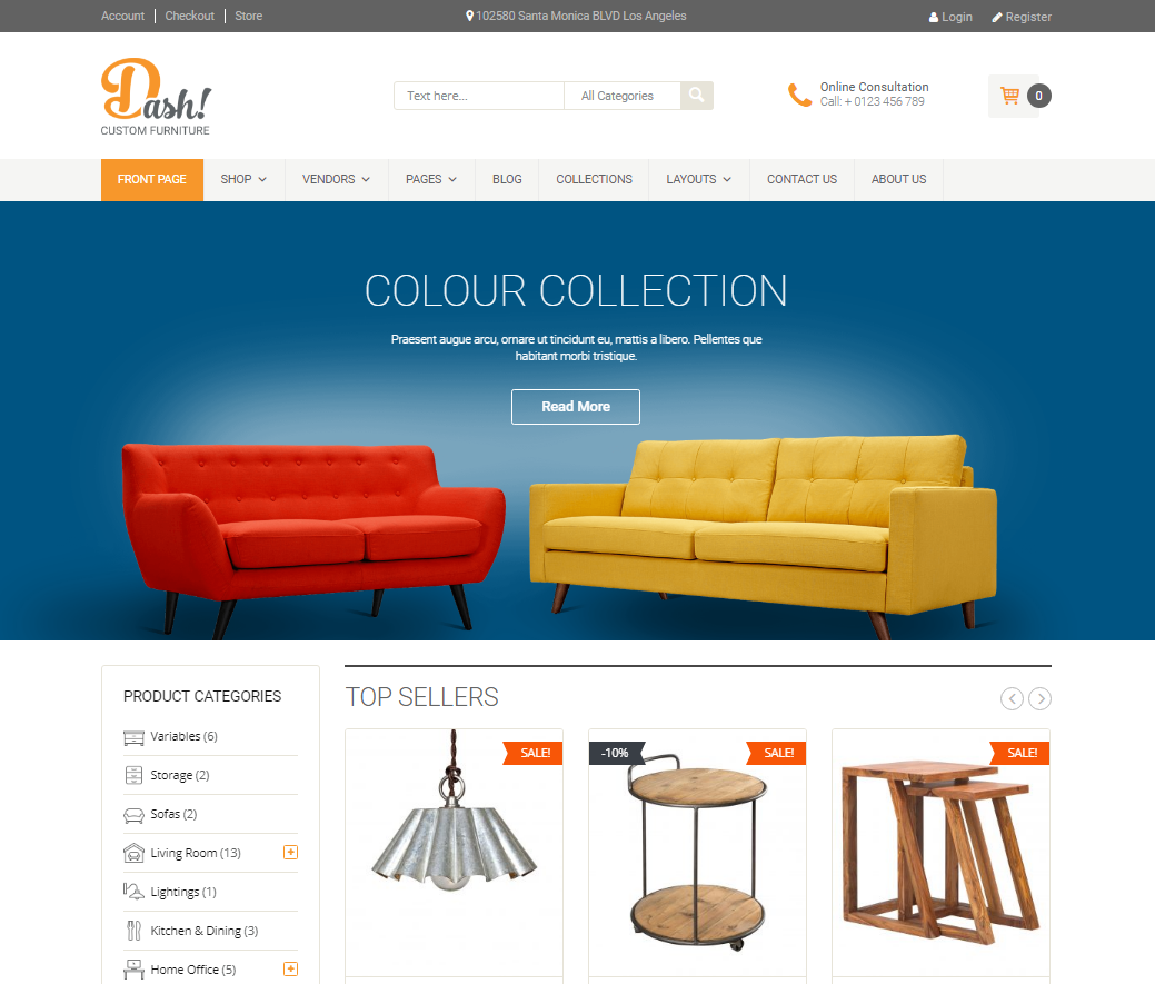 Furniture Responsive WooCommerce Template