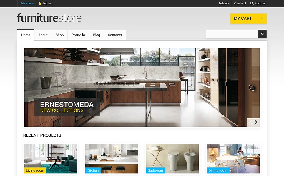 41 latest furniture wordpress themes for manufacturers for Furniture and more store