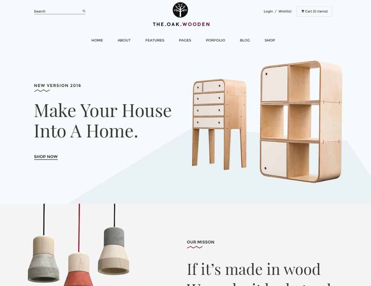 WordPress Furniture Theme