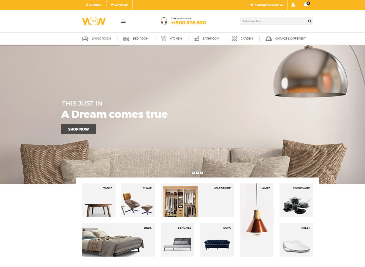 Home Furniture WordPress Theme