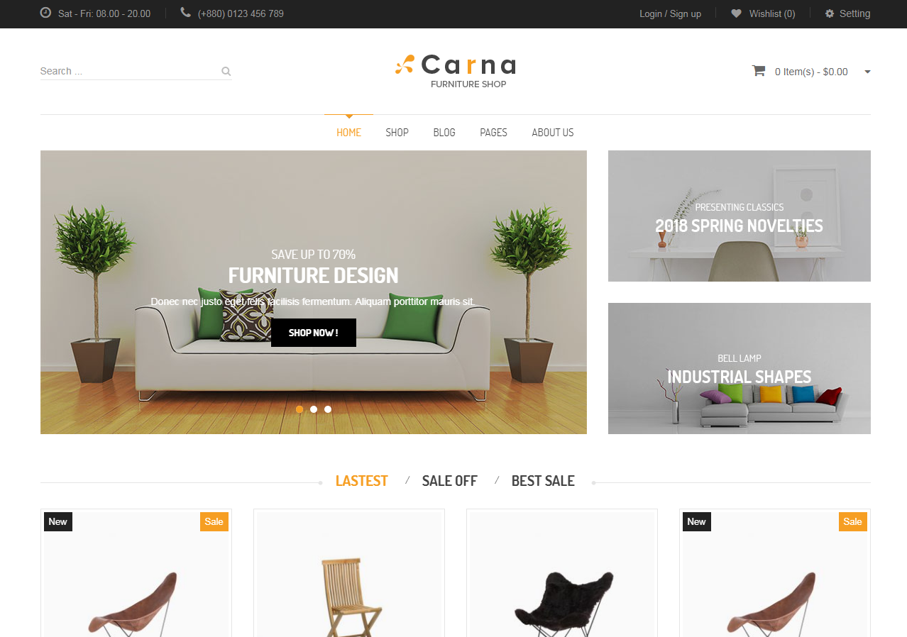 Responsive Furniture Store WooCommerce Theme