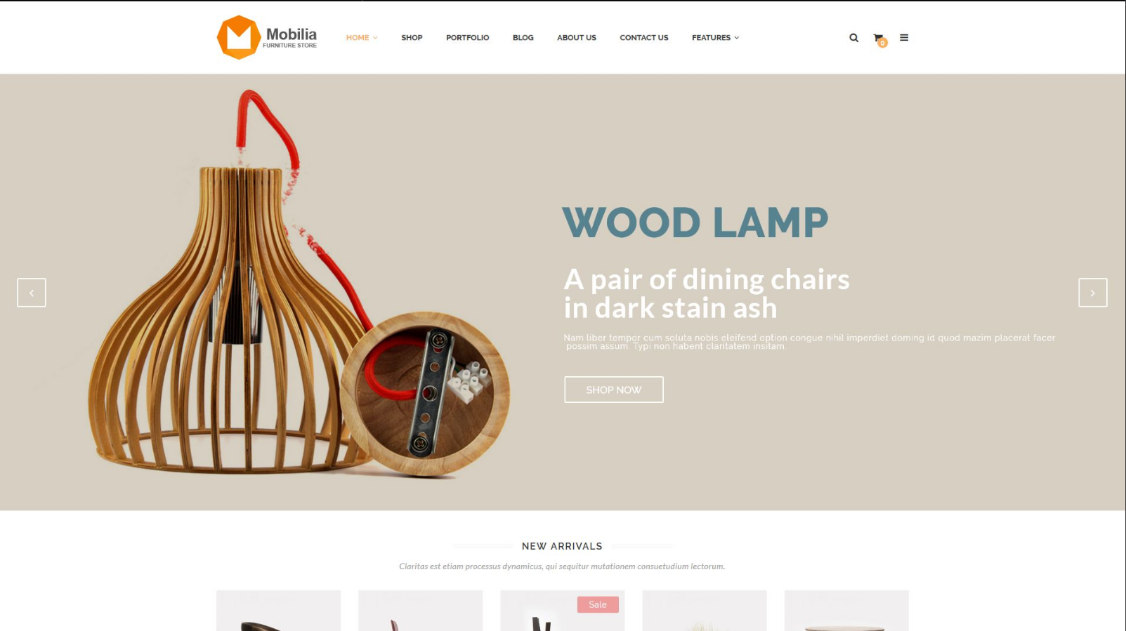 Furniture & Interior Design WordPress Theme