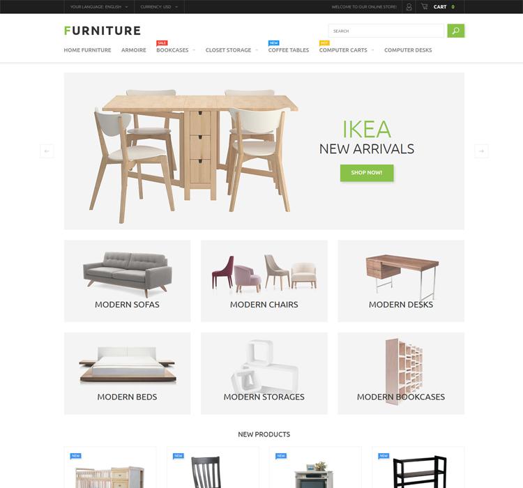 Responsive Magento Furniture Theme