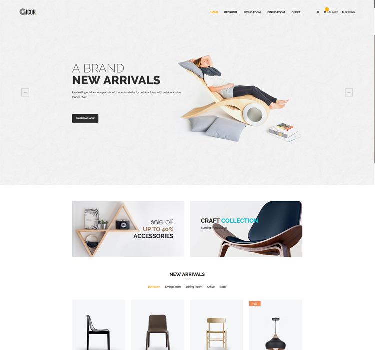 New Furniture Responsive Magento Theme
